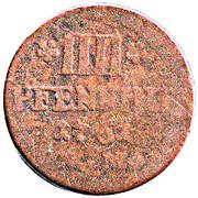 4 Pfennig - Johann Philipp von Walderdorff – reverse