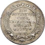 1 Kopfstück - Franz Georg von Shönborn – reverse