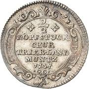 ½ Kopfstück - Franz Georg von Shönborn – reverse