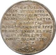 ½ Thaler - Franz Georg von Schönborn (Death) – reverse