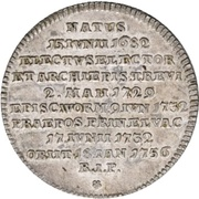 1/16 Thaler - Franz Georg von Schönborn (Death) – reverse