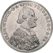 ½ Thaler - Clemens Wenzel von Sachsen (½ Konventionstaler) – obverse