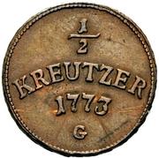 ½ Kreutzer - Clemens Wenzel von Sachsen – reverse