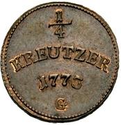¼ Kreutzer - Clemens Wenzel von Sachsen – reverse