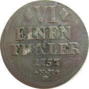 ⅙ Thaler - Johann Philipp von Walderdorff – reverse