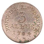 3 Albus - Clemens Wenzel von Sachsen – reverse