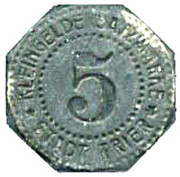 5 Pfennig - Trier – reverse