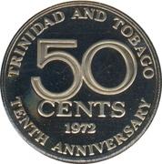 50 Cents - Elizabeth II (Independence) – reverse