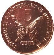 5 Cents (Independence) – reverse