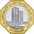 10 Dollars (Central Bank) – reverse