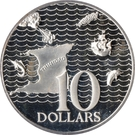 10 Dollars (Silver Proof issue) – reverse