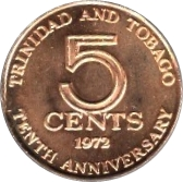 5 Cents - Elizabeth II (Independence) – reverse