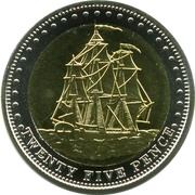 25 Pence - Elizabeth II (4th portrait; Stoltenhoff Island) -  reverse