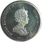 5 Pence - Elizabeth II (4th portrait; Nightingale Island) – obverse