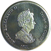 5 Pence - Elizabeth II (4th portrait; Nightingale Island) – obverse