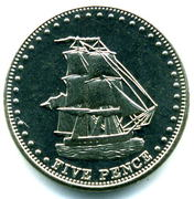 5 Pence - Elizabeth II (4th portrait; Stoltenhoff Island) – reverse
