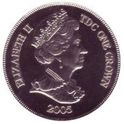 1 Crown - Elizabeth II (Royal wedding) – obverse