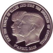 1 Crown - Elizabeth II (Royal wedding) – reverse