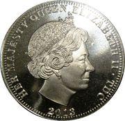 ½ Crown - Elizabeth II (Coronation) – obverse