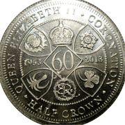 ½ Crown - Elizabeth II (Coronation) – reverse