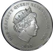 ½ Crown - Elizabeth II (WW1 Centenary) – obverse