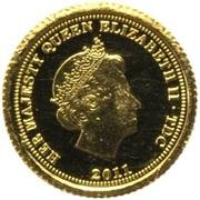 ½ Crown - Elizabeth II (Lydia) – obverse