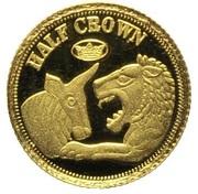½ Crown - Elizabeth II (Lydia) – reverse