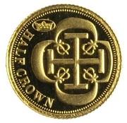 ½ Crown - Elizabeth II (Dublon) – reverse