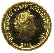 ½ Crown - Elizabeth II (Aureus) – obverse