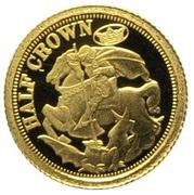 ½ Crown - Elizabeth II (Sovereign) – reverse