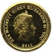 ½ Crown - Elizabeth II (Ecu d'Or) – obverse