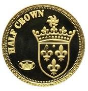 ½ Crown - Elizabeth II (Ecu d'Or) – reverse