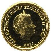 ½ Crown - Elizabeth II (Florin) – obverse