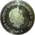 ½ Crown - Elizabeth II (Commemoration of Birth) – obverse