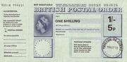 1 Shilling / 5 Pence - Postal Order – obverse