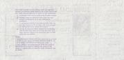 1 Shilling / 5 Pence - Postal Order – reverse