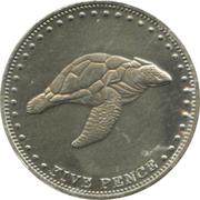 5 Pence - Elizabeth II (4th portrait; St. Helena Dependency) – reverse