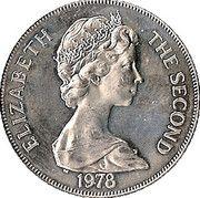 1 Crown - Elizabeth II (Coronation Jubilee) – obverse