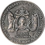 1 Crown - Elizabeth II (Coronation Jubilee) – reverse