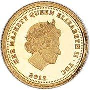 ½ Crown - Elizabeth II (Napoleon - Fabula Aurum) – obverse