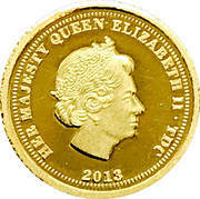½ Crown - Elizabeth II (Ducat - Fabula Aurum) – obverse