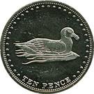 10 Pence - Elizabeth II (4th portrait; Gough Island) – reverse