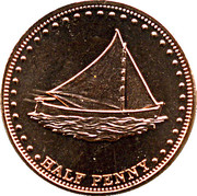 ½ Penny - Elizabeth II (4th portrait; Stoltenhoff Island) – reverse
