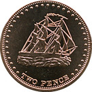 2 Pence - Elizabeth II (4th portrait; Stoltenhoff Island) – reverse