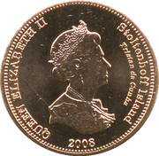 1 Penny - Elizabeth II (4th portrait; Stoltenhoff Island) – obverse