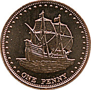 1 Penny - Elizabeth II (4th portrait; Stoltenhoff Island) – reverse