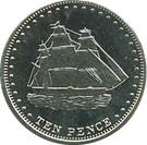 10 Pence - Elizabeth II (4th portrait; Stoltenhoff Island) – reverse