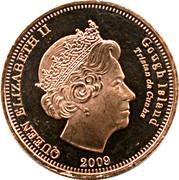 ½ Penny - Elizabeth II (4th portrait; Gough Island) – obverse