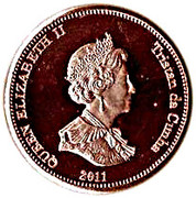 ½ Penny - Elizabeth II (4th portrait; Nightingale Island) – obverse