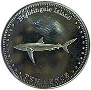 10 Pence - Elizabeth II (4th portrait; Nightingale Island) – reverse